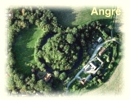 Ongar motte from the air